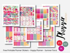 Free Monthly Set – Summer Floral – Planner Addiction
