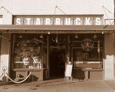 The Original Starbucks Seattle Pike Place Starbucks Photo Print. Flagship Starbucks. Coffee Shop Photo, Cafe Photo, Coffee Art, Pikes Place Starbucks Shop, Starbucks Seattle, Starbucks Coffee, Nyc Coffee Shop, Coffee Shops, Gaudi Mosaic, Coffee Shop Aesthetic, Seattle Photography, Blue Wall Decor