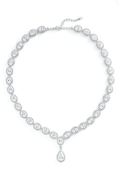 Love this Nadri Cubic Zirconia & Crystal Pear Drop Necklace