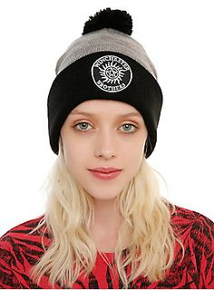 "<p>Knit pom beanie from <i>Supernatural</i> with an embroidered ""Winchester Brothers"" anti-possession symbol design on the foldover.</p>  <ul> 	<li>One size fits most</li> 	<li>100% acrylic</li> 	<li>Imported</li> </ul>"