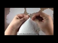 ▶ DIY: Make Your Own Fiber Texture Paste - YouTube Uses paper pulp (toilet paper and water)...easy