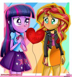 my little pony,Мой маленький пони,фэндомы,Fluttershy,Флаттершай,mane 6,Rainbow Dash,Рэйнбоу Дэш,Rarity,Рэрити,Applejack,Эпплджек,Twilight Sparkle,Твайлайт Спаркл,Sunset Shimmer,Сансет Шиммер,minor,equestria girls,mlp art,mlp шиппинг