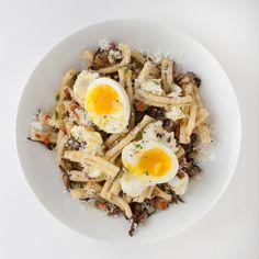 Strozzapreti with Mushrooms and Ricotta Recipe - Bon Appétit