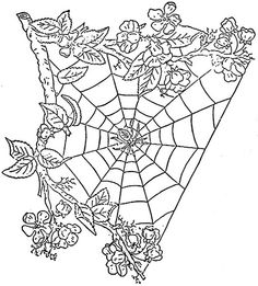 1886 Ingalls Spider Web and Wild Roses