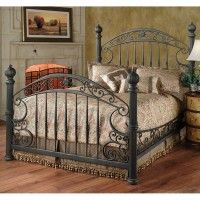 Chesapeake Iron Bed in Rustic Old Brown by Hillsdale Furniture