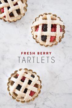fresh berry tartlets | designlovefest