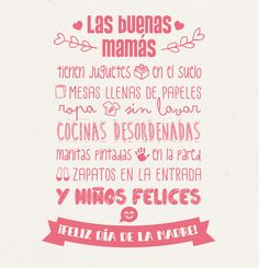 ¿Cómo ser mamá y no morir en el intento? - Mujer letra por letra Mom Quotes, Words Quotes, Quotes To Live By, Happy Mother S Day, Mother And Father, Days Of Week, Mr Wonderful, Something To Remember, Mom Day