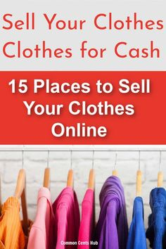 Why not earn some extra cash and sell your clothes online. Here are 15 sites where you can sell used clothes, and how you can get top dollar. It's not hard to get cash for your clothes, and you'll declutter your space too! Make Money Fast, Make Money Blogging, Make Money From Home, Make Money Online, Work From Home Companies, Work From Home Tips, Work From Home Opportunities, Selling Used Clothes Online, Extra Money