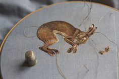 This will be my last hare progress photo until the Patches & Stitches exhibition opens in July :)