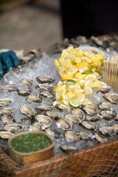 beautiful raw oyster bar. photography by catherinehall.net, wedding coordination by offthebeatenpathweddings.com