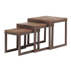$390.00 Civic Center Distressed Natural Finish Nesting Tables | Overstock™ Shopping - Great Deals on Coffee, Sofa & End Tables