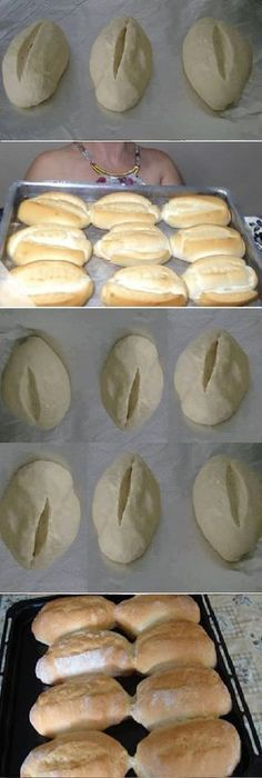 - How to make FRENCH BREAD HOME. Beat the dough for 10 minutes (can be made in the blender with the kneading hook ) to remove the dough from the sides of the bowl, sprinkling with flour. Take the bo … Pan Bread, Bread Cake, Bread Baking, Bread Recipes, Cooking Recipes, Mexican Bread, Mini Pizza, Pan Dulce, Paleo Dessert