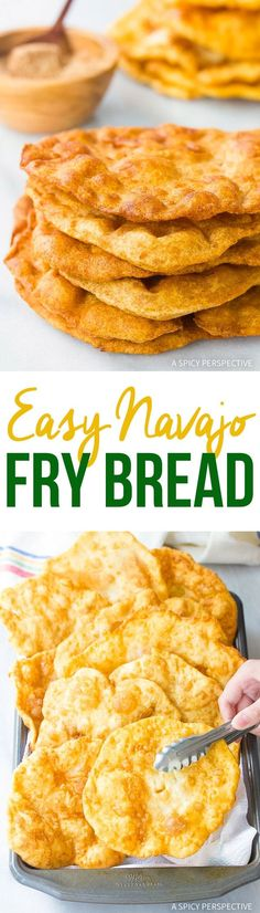 Easy Navajo Fry Bread Recipe – Bubbly flatbreads you can enjoy as-is,  use is tacos and wraps, or sprinkle with cinnamon sugar for easy  desserts!