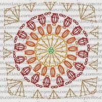 Crochet Patterns: Crochet Throw Blanket - Sunburst Granny-Square