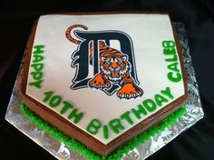 Tigers Baseball Cake — Baseball / MLB