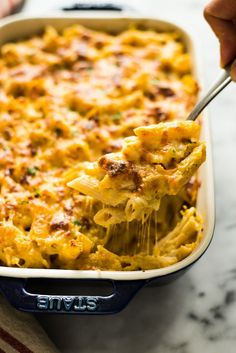 Butternut Squash Baked Mac and Cheese - gluten free and healthier version! by @healthynibs @bhg
