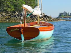 The Paine 14 – A Herreshoff – inspired daysailor – Chuck Paine Yacht Design LLC Spirit Yachts, Sailing Dinghy, Yacht Design, Small Boats, Wooden Boats, Bristol, Wood Projects, Instagram, Building