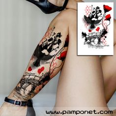 Original and unique illustrations for tattoos ilustrações or Badass Tattoos, Body Art Tattoos, New Tattoos, Temporary Tattoos, Tattoo Trash, Trash Polka Tattoo, Unique Tattoos For Women, Arm Tattoos For Guys, Trash Polka Frau