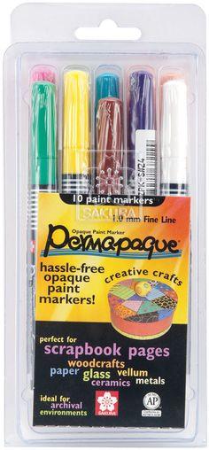 Permapaque Paint Markers Fine Point Set 10/Pkg
