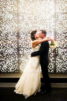 Cascada de luces para grandes fotos