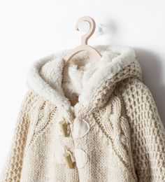 Image 3 of COAT WITH FUR-LINED HOOD from Zara