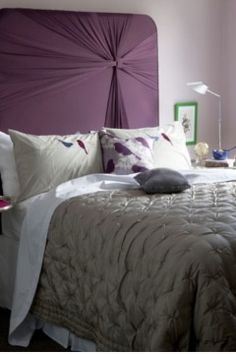 plum and silver bedroom