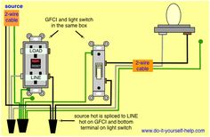 bathroom exhaust fan wiring diagram vw t5 towbar for a ceiling and light electrical gfci receptacle switch same box home installation