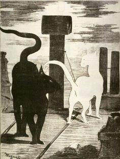 Édouard Manet, Le rendez-vous des chats (1868, Museum of Fine Arts, Boston)