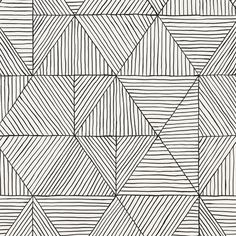 This is an enlarged version of our Mica wallpaper, hand-screenprinted in black using water-based inks on recyclable paper. This paper is also available in two additional colorways. Zero Wallpaper, Bathroom Wallpaper, Wall Wallpaper, Wallpaper Ideas, Tile Design, Pattern Design, Pattern Art, Textures Patterns, Print Patterns