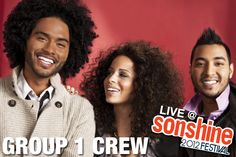 Group 1 Crew will be at Sonshine on our Main Stage! Don't miss this energetic hip hop trio!