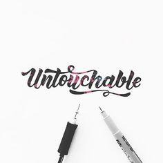 Typography & Lettering Design @typostrate Untouchable ☝ by ...Instagram photo | Websta (Webstagram)