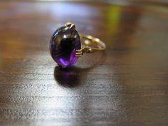 千本透かし blog / CLASSICS HAKOZAKI / 昭和ジュエリー: 506:デッドストック 千本透かし(穴透かし) K18 アメジスト リング #12 Gemstone Rings, Gemstones, Jewelry, Jewlery, Gems, Jewerly, Schmuck, Jewels, Jewelery