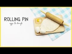 miniature rolling pin | polymer clay eggs TUTORIAL - YouTube