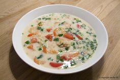 South Beach opskrifter og andet godt...: Thai-suppe med rejer og perlebyg