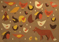 ciut dziczy dla Poznania - kurczaki i lis