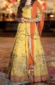 Pakistani Mehndi Dress, Pakistani Dresses, Indian Dresses, Indian Outfits, Party Dresses, Bridal Dresses, Groom Outfit, Anarkali Suits, Wedding Wear