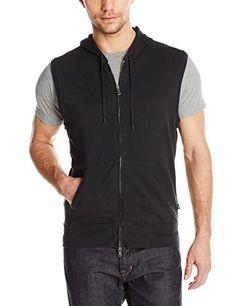 John Varvatos Star USA Men's Sleeveless Knit Zip Hoody