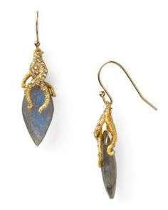 Alexis Bittar Gold Vine Capped Labradorite Earrings  Bloomingdale's