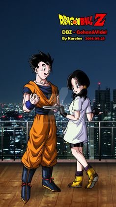 Gohan and Videl by karoine