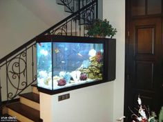 55 Wondrous Aquarium Design Ideas for Your Extraordinary Home Decoration - Talkdecor Decor, Divider Design, House Design, Home Look, Elite Decor, Fish Tank Wall, Interior Design, Home Decor, Inspired Homes