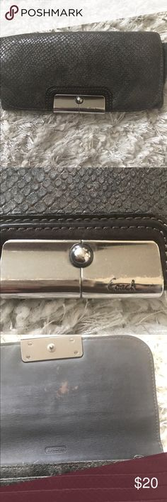 Coach Wallet Snake skin, Coach authentic wallet. Minor discoloration inside (see pic), not noticeable from outside at all. Good condition overall. Coach Bags Wallets