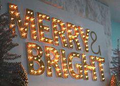 DIY Marquee Christmas Lights