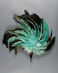 Made in United States, North and Central America. 1920s    Artist/maker unknown, American    Feathers; tortoiseshell handle  Length: 17 1/2 inches (44.5 cm)