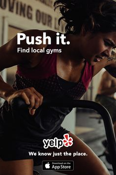 Whether you're looking for a gym, spin class, or whatever else makes you sweat, Yelp has tons of great suggestions that are reviewed by millions of users. Get the App and start searching.