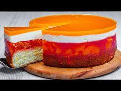 Bez pečení, bez vajec, másla a mléka. Cenově dostupný dort s božskou chutí!| Chutný TV - YouTube Cheesecake, Butter, Cake Recipes, Milk, Crack Cake, Food Cakes, Deserts, Eggs, Oven