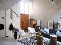Living room via Muotopuoli Micro Apartment, Loft, Blog Deco, Scandinavian Style, Nordic Style, Living Room Inspiration, Home Fashion, Interior And Exterior, Room Interior