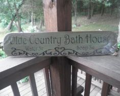 Bathroom decor, primitive bathroom sign, rustic bathroom sign, primitive home decor, hand Country Decor, Rustic Decor, Farmhouse Decor, Country Signs, Farmhouse Signs, Country Farmhouse, Country Kitchen, Rustic Wood, French Country