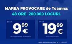 Promoție Blue Air: 200 000 de locuri la tarife de la 9.99 EURO (zboruri interne) și de la 19.99 EURO (zboruri internaționale) Euro, Weather