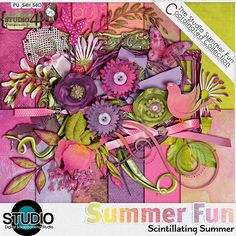 Bright, vibrant and fun - this is Scintillating Summer! Available at Digital Scrapbooking Studio: http://www.digitalscrapbookingstudio.com/store/index.php?main_page=product_info&cPath=13_392&products_id=29556 and Go Digital Scrapbooking: ://www.godigitalscrapbooking.com/shop/index.php?main_page=product_dnld_info&cPath=29_164&products_id=19846