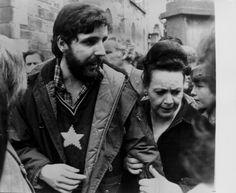 Hunger Striker Patsy O Hara Mother Peggy O Hara and Brother Tony O Hara at Patsy Funeral 1981